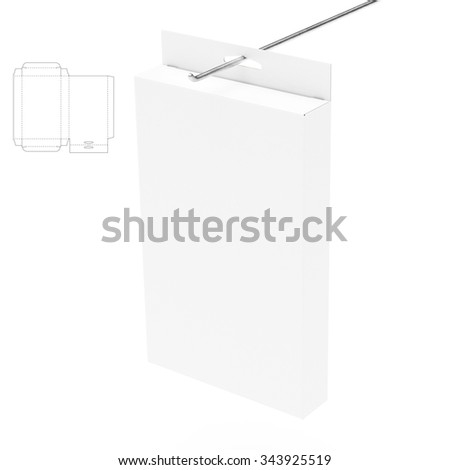 Hanging Retail Box with Die Cut Template