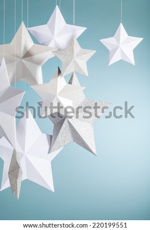 Hanging Stars - stock photo