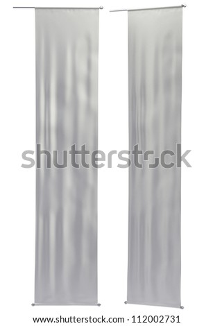 Hanging Street Banner. Neutral colors, clipping paths - stock photo