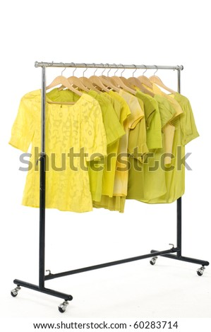 Hanging t-shirts - stock photo