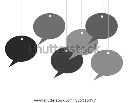 Hanging Talk Bubbles - stock photo