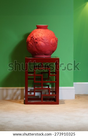 Hangzhou,China-April 22,2014:China made utensil and craft in Dragon Hotel - stock photo