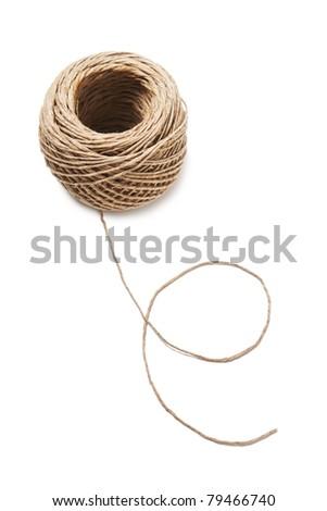 Hank of rope - stock photo