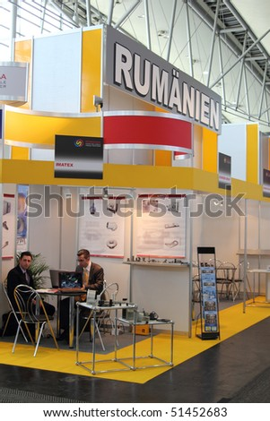 HANNOVER, GERMANY - APRIL 19: stand of romania at the hannover industrial fair , Hannover Messe April 19, 2010 in Hannover, germany