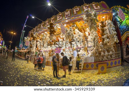 Hannover, Germany - July 06, 2014: The Hanover Schutzenfest is the largest marksmen's funfair in the world.