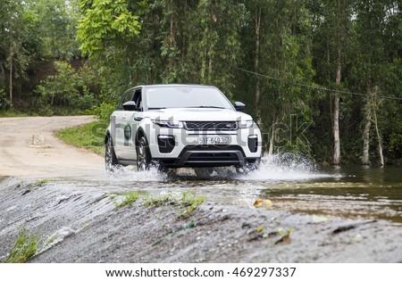 Hanoi, Vietnam   July 13, 2016: Range Rover (Land Rover) Evoque