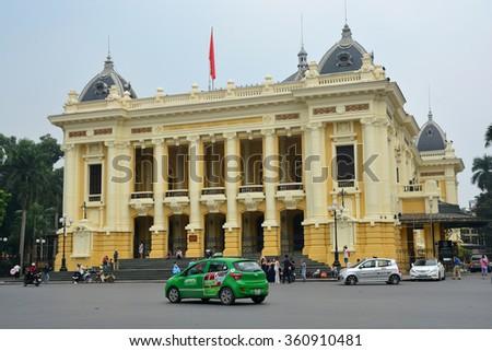 Hanoi, Vietnam - October 25,2015 : Hanoi Opera House - stock photo
