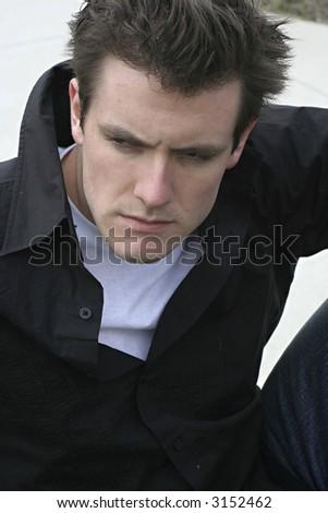 hansome guy - stock photo