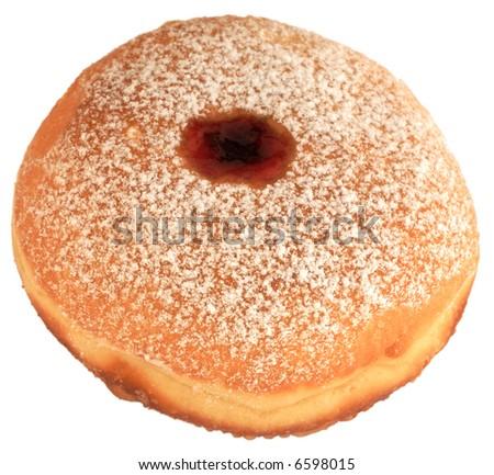 Hanukkah donut, isolated - stock photo