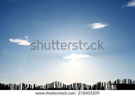 Happiness behind a fence.  - stock photo