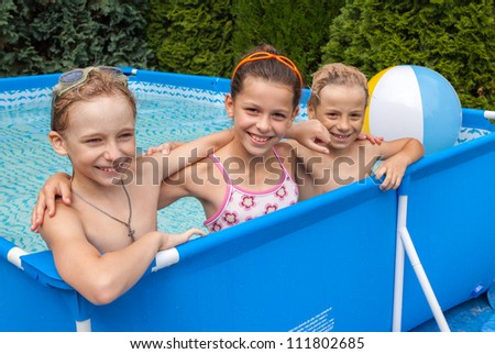 Happiness children at pool