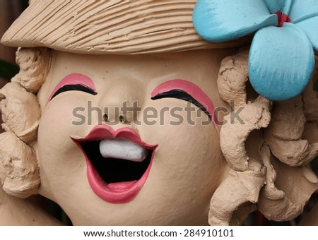 happiness,doll,cute ,smile - stock photo