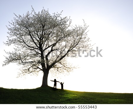 Happiness forever, freedom and togetherness - stock photo