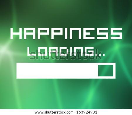 Happiness Loading Screen - stock photo