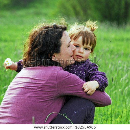 Happiness of the mother and daughter  - stock photo