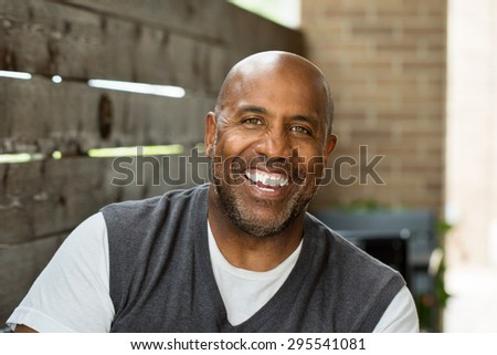 Happy African American man - stock photo