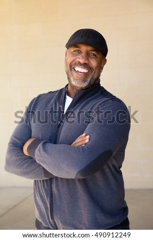 Happy African American man