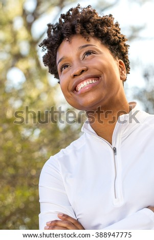 Happy African American Woman Smiling