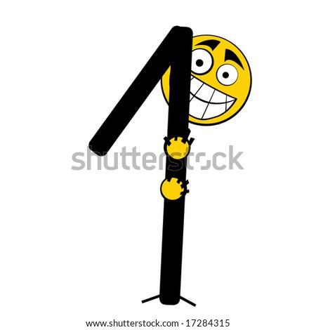 Happy Alphabet number - 1 one - stock photo