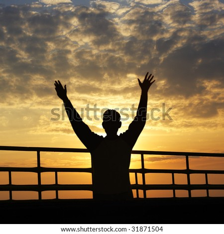 happy and freedom - stock photo