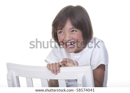 Happy and laughing. - stock photo