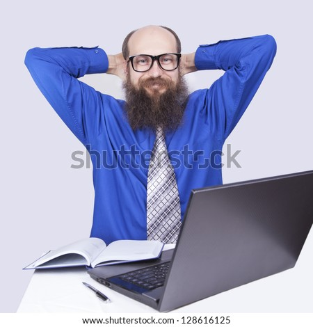 Happy and resting - Businessman (Series) - stock photo