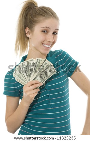 Happy and Rich - stock photo