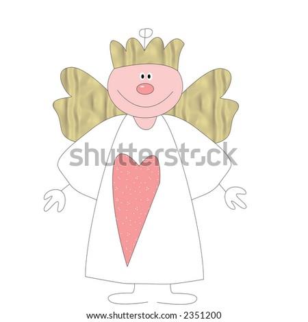 Happy angel - stock photo
