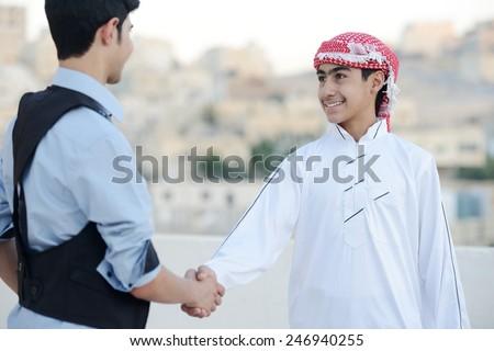 Happy Arabic boy - stock photo