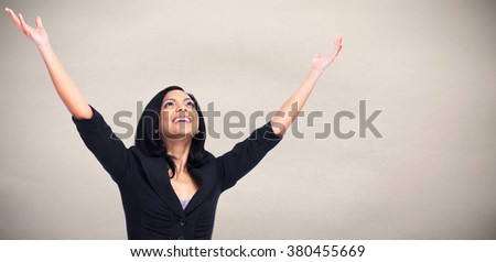 Happy Asian business woman. - stock photo