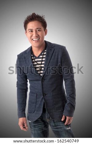 Happy Asian businessman - stock photo