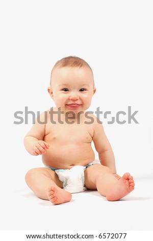 happy baby #11 - stock photo