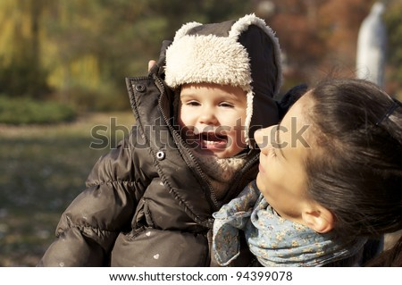 Happy baby - stock photo