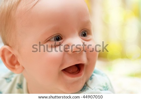happy baby boy - stock photo