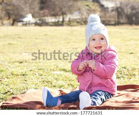 Happy baby girl  - stock photo