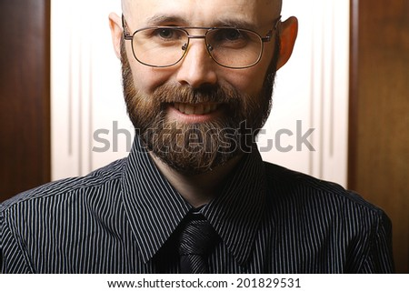 happy bearded portrait