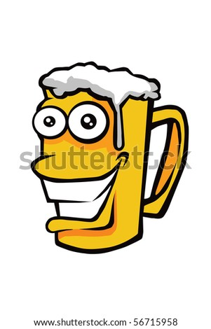 Happy Beer - stock photo
