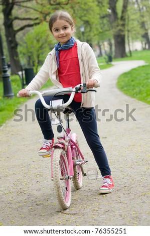 Happy biker - stock photo