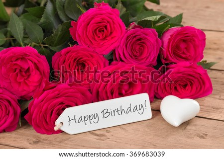 Happy Birthday Flowers Stock Images Royalty Free Vectors