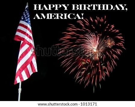 Happy Birthday America - stock photo