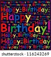 Happy birthday background or card. - stock photo
