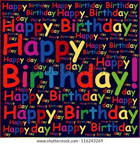 Happy birthday background or card. - stock photo
