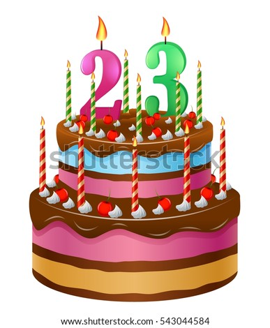 Happy birthday cake 23 stock illustration 543044584 shutterstock happy birthday cake 23 thecheapjerseys Images