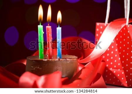 Birthday Cake Shot Images ~ Happy birthday cake shot on red stock photo royalty free