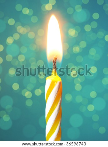 Happy birthday candle - stock photo