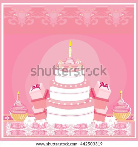 Happy Birthday Card  - stock photo