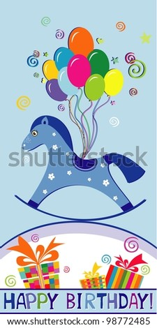 Happy birthday card. Celebration background. illustration