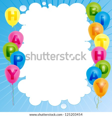 Happy birthday card template color balloons stock illustration happy birthday card template color balloons stock illustration 125203454 shutterstock bookmarktalkfo Gallery