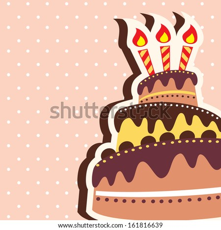 Happy Birthday Chocolate Cake Card Background Template