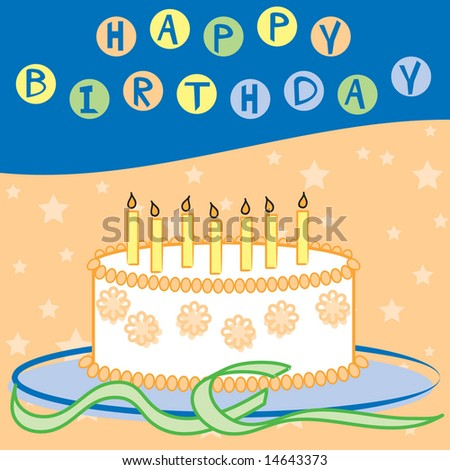 Happy Birthday design in bright colors in JPEG/TIFF format (Image ID for vector version: 14494588)